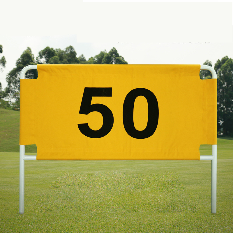 Golf Driving Range Banner 50, 100, 150, 200 or 250 Golf distance card