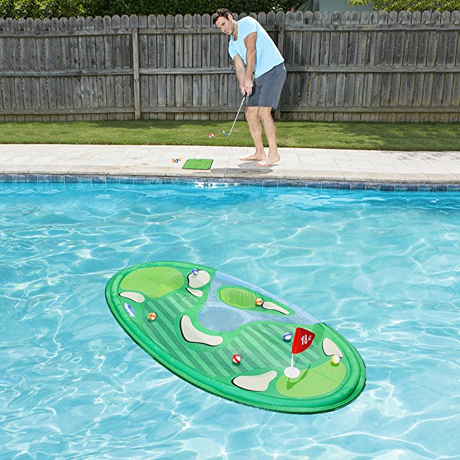 floating golf green